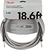 Fender シールドケーブル Professional Series Instrument Cable, 18.6', White Tweed