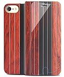 YFWOOD 触れ心地が一番いい天然木製iPhone7iPhone8ケース 男性 保護フィルム付 自然を感じるIPhone7ケース