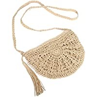 Straw Crossbody Bag, JOSEKO Women Weave Shoulder Bag Summer Beach Purse for Travel Everyday Use