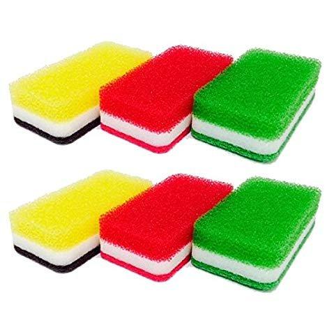 ダスキン台所用スポンジ3色セット抗菌タイプS(2セット計6個)
