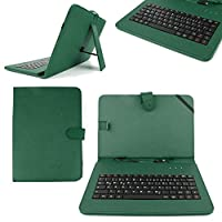 """DURAGADGET 10"""" Fauxレザー保護スタンドケースwith Micro USBドイツ語キーボード+ボーナスStylusペンfor NetTab SkyNet II / Audi Androidタブレット/ Polaroid midhq10/ Zoostorm PlayTab 3305–103010.1"""""""