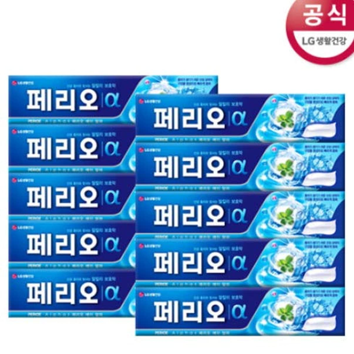 覚醒申し込む鼻[LG HnB] Perio Alpha Toothpaste/ペリオアルファ歯磨き粉 170gx10個(海外直送品)