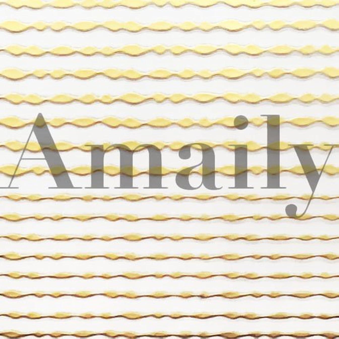 表面フォーマル集中Amaily(アメイリー)波ライン ゴールド【ネイルアート、ネイルシール、ネイル パーツ】