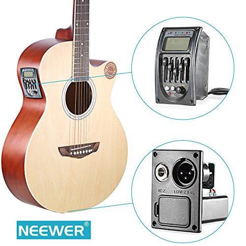 Neewer® 音響 5-バンド EQイコライザーギター プリアンプピエゾピックアップチューナー LCDディスプレイに付き