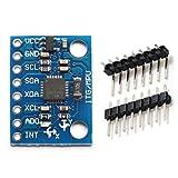 HiLetgo 3pcs GY-521 MPU6050 3軸加速度センサージャイロスコープモジュール6自由度6軸加速度センサージャイロセンサーモジュール16ビットAD変換器Arduino用データ出力IIC
