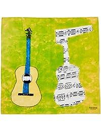 (ピッコーネ アッチェッソーリ) PICONE ACCESSORI コットンプリントスカーフ バンダナ 55×55 綿100% 日本製 ギターのイラスト