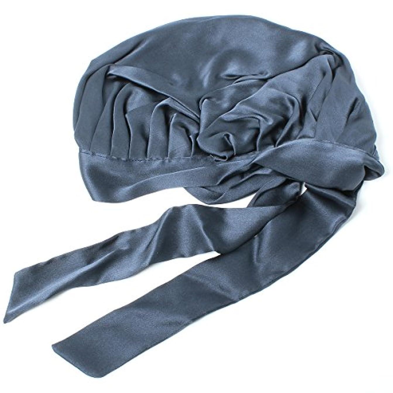 早い従事したヒップベーシックエンチ Silk Ribbon Cap キャップ シルク ナイトキャップ フリーサイズ
