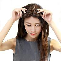 J&S 人毛100% 総手植え 頭頂部 ヘアピース 部分ウィッグ 脱毛症 薄毛 白髪隠し ボリュームアップ かつら 人工皮膚付き 通気性抜群 ポイントウイッグ