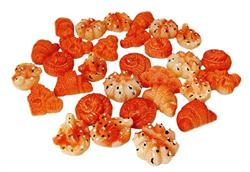 デコパーツ パン 5種類30個セット クロワッサン ミニクロ SA-P820