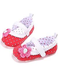 Tokuonn ベビーシューズ フォーマル ファースト靴 女の子 赤ちゃん 幼児用靴 花 トッド柄 可愛い 履き心地いい