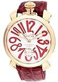 [ガガミラノ]GaGa MILANO 腕時計 マニュアーレ48mm ホワイト文字盤  カーフ革ベルト 手巻き スイス製 5011.10S-RED メンズ 【並行輸入品】