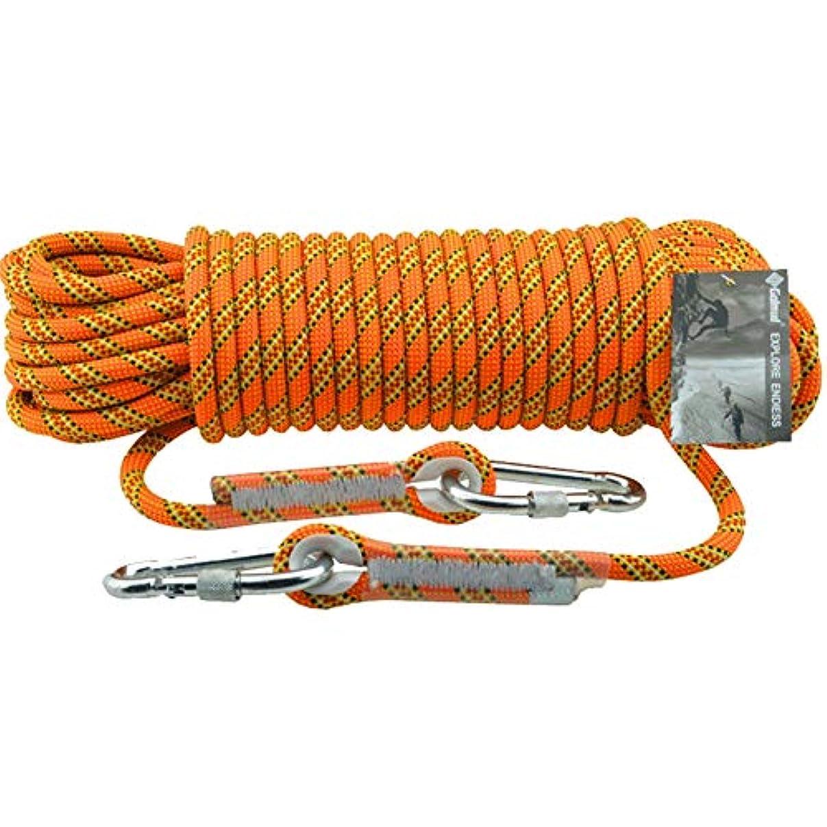 オートメーション家突然屋外ロッククライミングロープ - 11 mmハイキングパワーロープ高強度火災エスケープ安全コードパラシュートラペリングロープ,Orange,10m