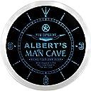 LEDネオンクロック 壁掛け時計 ncpb0054-b ALBERT 039 S Man Cave Cowboys Beer Bar Pub LED Neon Sign Wall Clock
