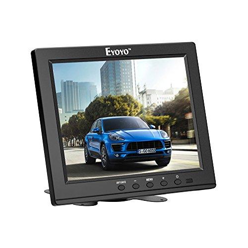 『Eyoyo 8インチ ディスプレイ 小型LCDカラービデオモニター スクリーン 1024x768 VGA BNC AV HDMI Ypbpr 機能付き PC CCTVホーム 入力』のトップ画像
