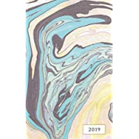 2019 Weekly & Monthly Classic Suminagashi Marble: 12 Month Planner Diary with Vertical Day Appointment Agenda and Small Calendar Organizer