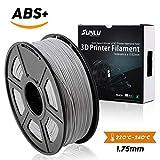 SUNLU ABSプラス3Dプリンターフィラメント、ABSフィラメント1.75 mm、3D印刷フィラメント3Dプリンターと3Dペン用の低臭気寸法精度+/- 0.02 mm、2.2 LBS(1KG)スプール3Dフィラメント、グレーABS +