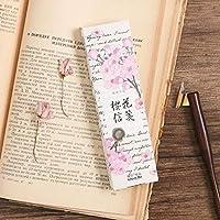 30個/パック ロマンチック 春 桜 しおり ページマーカー ライティングカード 学校 オフィス サプライ 子供 学生 文房具