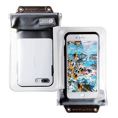 エレコム スマートフォン用防水・防塵ケース/オールクリア/XLサイズ/ブラック P-WPSAC03BK 1個