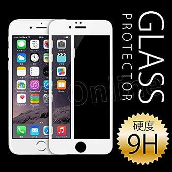 iPhone6(4.7インチ)用【全面フルカバー】(ホワイト)液晶保護 0.33mm強化ガラスフィルム・シルバー/ゴールド用 硬度9H ラウンドエッジ加工【JTTオンラインオリジナル】※ブラックも選べます※