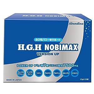 H.G.H NOBIMAX(アミノ酸含有食品)顆粒 180g(12g×15袋)【アミノ酸7種配合】/日本HGH協会認定