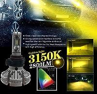 1年間保証!CARPARTSJP® LEDフォグ左右で黄色業界最高峰の12000LM LEDフォグランプ PSX24 トヨタ86 ZN6 スバルBRZ イエロー3000k 黄色 ZESフォグ キット 36w 6000ルーメン 1年保証 (PSX24W)