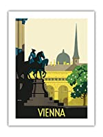ウィーン、オーストリア - Josefsplatz - ビンテージな世界旅行のポスター によって作成された ハーマン・コーゼル c.1936 -プレミアム290gsmジークレーアートプリント - 46cm x 61cm