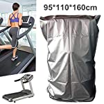 Treadmill Cover, Sports Running Machine Protective Folding Cover Dustproof Waterproof Cover, for Outside Weather Rain...