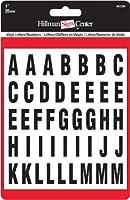ヒルマングループ8422861インチダイカット文字と、番号のキット、ブラック ブラック 842286 1