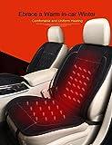Rupse  ホットカーシート シートヒーター 12v シガーソケット 汎用 速暖 脱着簡単 裏地滑り止め加工 暖房器具