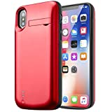 Best iPhone 5バッテリーケース - バッテリー内蔵ケース iPhone X スマートフォン バッテリーケース Cofuture 5 000mA大容量 2回分充電可能 スタンド機能付き 衝撃分散システムでiPhoneを保護 Review