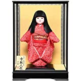 【市松人形】【雛人形】【初節句】12号市松人形:縮緬衣裳(オカッパ):京華作:ケース入り