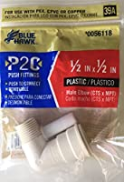 """ブルーHawk p2Cプッシュ継手1/ 2"""" x 1/ 2"""" CTS x MPTエルボMale Threaded xメスプッシュコネクタ"""