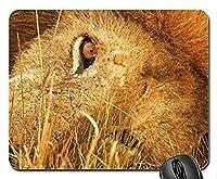 マウスマットゲーム用マウスパッドLYING DOWN LIONマウスパッド、マウスパッド(猫用マウスパッド)