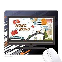 香港の有名な漫画の場所 ノンスリップラバーマウスパッドはコンピュータゲームのオフィス
