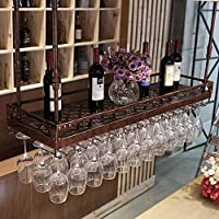 ZB 家庭用ワイングラスホルダーKTVぶら下げ高ガラスホルダー収納サイズ色複数選択 A+ (色 : B, サイズ さいず : 60*35cm)