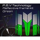 リフレクティブ フレームキット あらゆる種類の自転車のフレームに対応する反射板のセット ロードバイク・MTB・ママチャリの夜間走行の安全性を向上 P.S.V Technology ピーエスブイテクノロジー (グリーン)