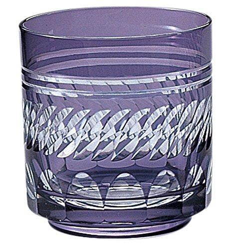 江戸切子 菱重ね オールド (化粧箱入) 紫 570-198-7