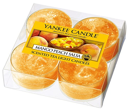 ヤンキーキャンドル クリアカップティーライト4個入り サルサ YANKEECANDLE 燃焼時間約4~6時間 アメリカ製