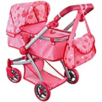 Bassinet Doll Stroller with Bag Fits 18 inch Dolls