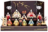 雛人形 真多呂 ひな人形 木目込人形飾り 段飾り 十人飾り 真多呂作 古今段飾り 瑞花雛 10人揃 h303-mt-1332