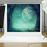 Waymine ハロウィン 背景幕 パンプキン ビニール 3x5フィート 暖炉 写真 黒板背景 子供のパーティー写真スタジオ小道具 ブラック Way32467