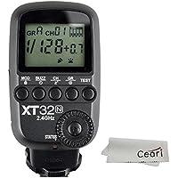 Godox xt32-n 2.4Gワイヤレス1/ 8000s高速同期フラッシュトリガートランスミッターfor Nikon DSLRカメラマイクロファイバー布