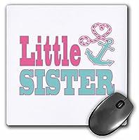 3drose Little Sisterかわいいアンカーとハートロープピンク、アクアマウスパッド( MP _ 165886_ 1)