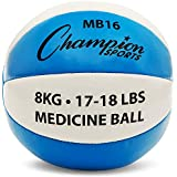 Exercise Medicine Balls, 8 Sizes, Leather with No-Slip Grip - Weighted Med Ball Set for Weight Training, Stability, Plyometrics, Cross Training, Core Strength - Heavy Workout Ball