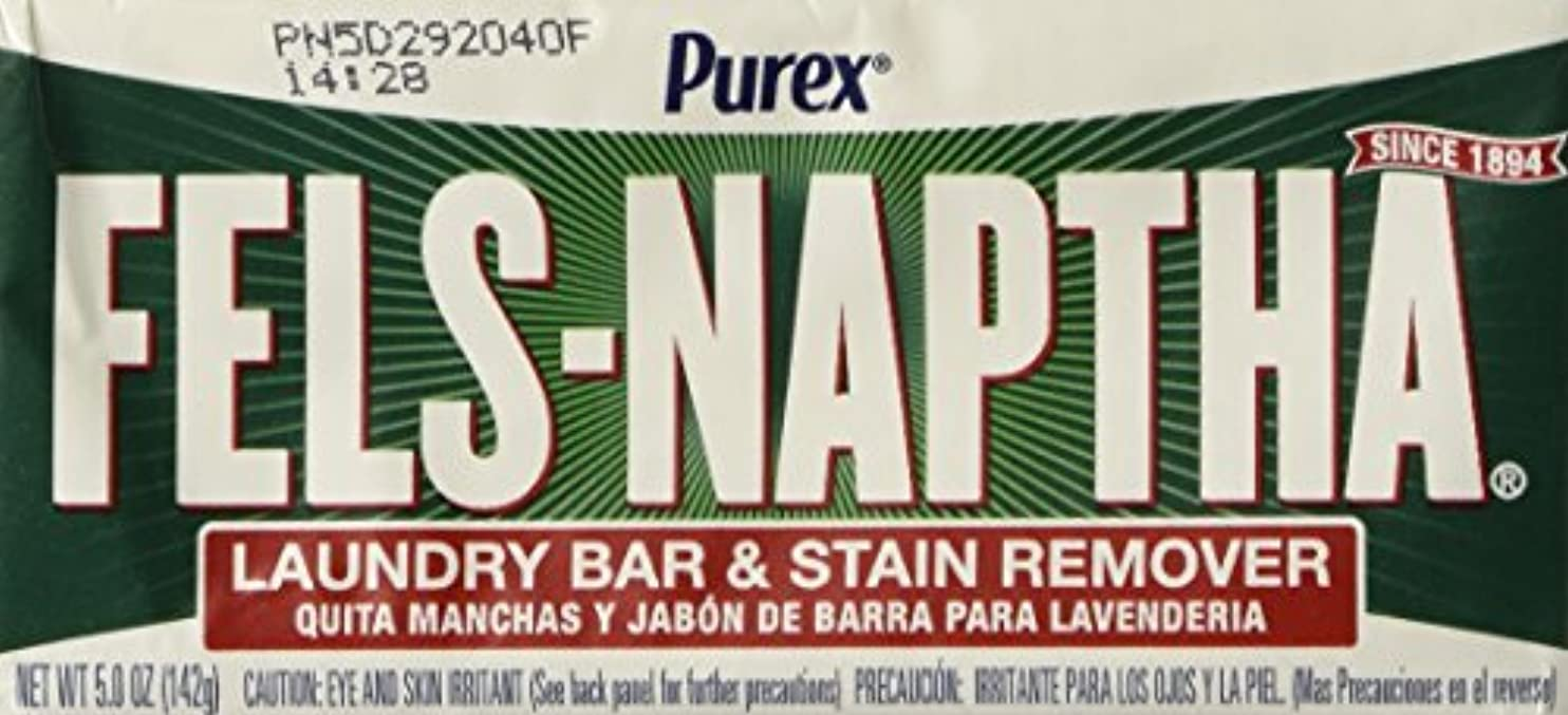 露出度の高いファーザーファージュ信号Fels Naptha Laundry Soap Bar & Stain Remover - 5.0 Oz per bar by Fels Naptha
