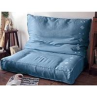 [ベルメゾン] フレンチリネン収納カバー ブルー系 タイプ:一体ソファー型