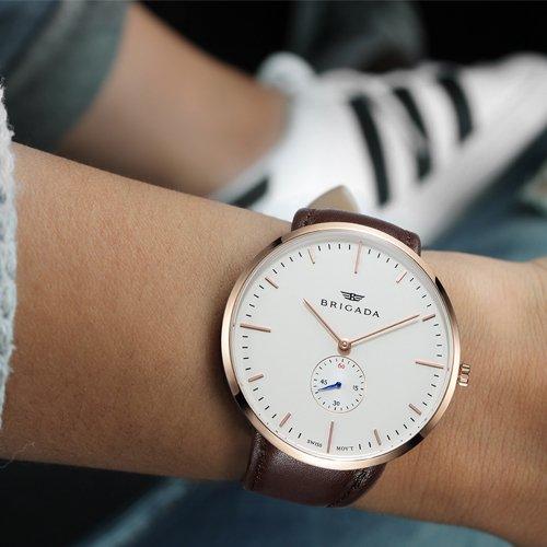 BRIGADA 高級 時計 メンズ ブランド 人気、ブラウン ファッション 上品 腕時計 メンズ ブランド 人気、自分用もしくは親戚お友達恋人へ贈る メンズ 時計