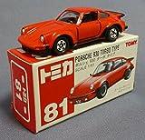 トミカ 81 ポルシェ 930 ターボタイプ 赤TOMYロゴ トミカは赤
