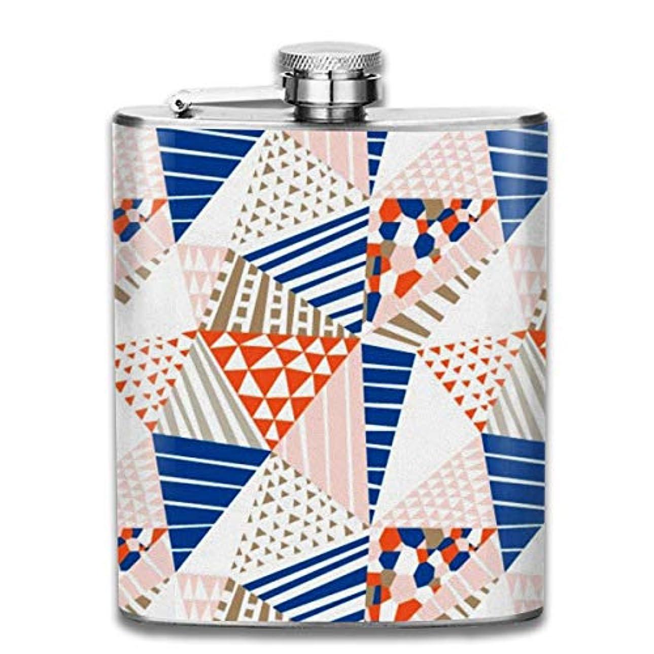 資料遺跡酸っぱい幾何学模様フラスコ スキットル ヒップフラスコ 7オンス 206ml 高品質ステンレス製 ウイスキー アルコール 清酒 携帯 ボトル
