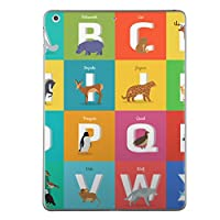 iPad Air2 スキンシール apple アップル アイパッド A1566 A1567 タブレット tablet シール ステッカー ケース 保護シール 背面 人気 単品 おしゃれ アルファベット 英語 動物 012997